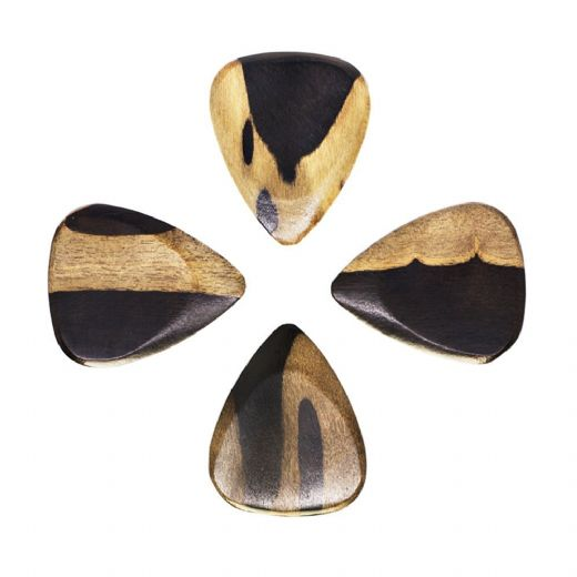 Timber Tones Malay Ebony 4 Guitar Picks